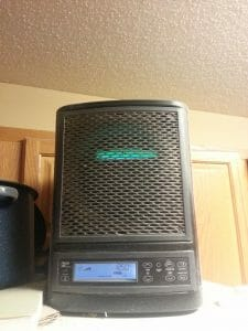 a black air purifier