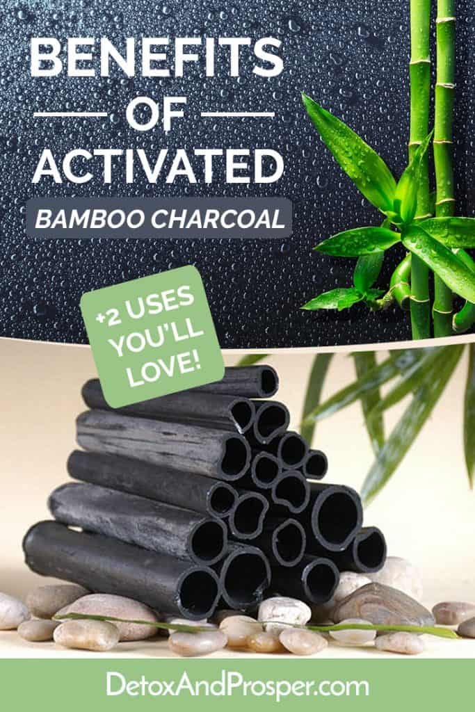 black rolls of activated bamboo charcoal