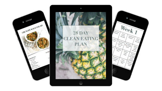 tablet and smartphones displaying a detox meal plan