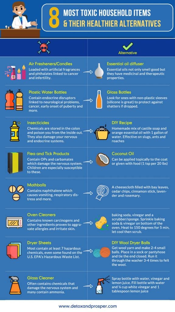 non-toxic household items infographic