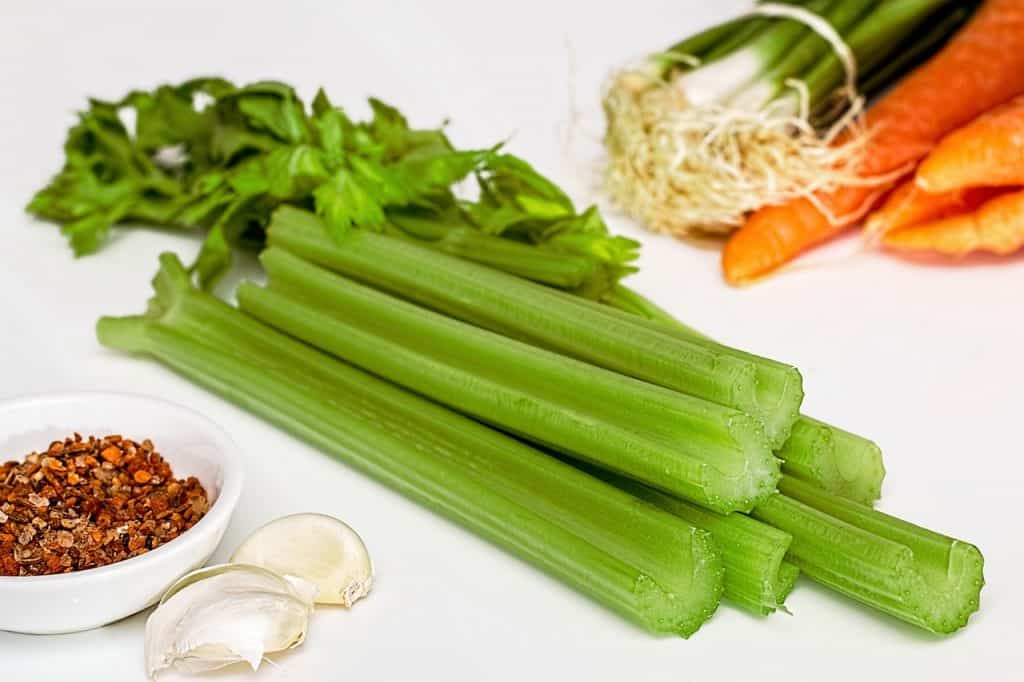 celery and carrots for a detox soup
