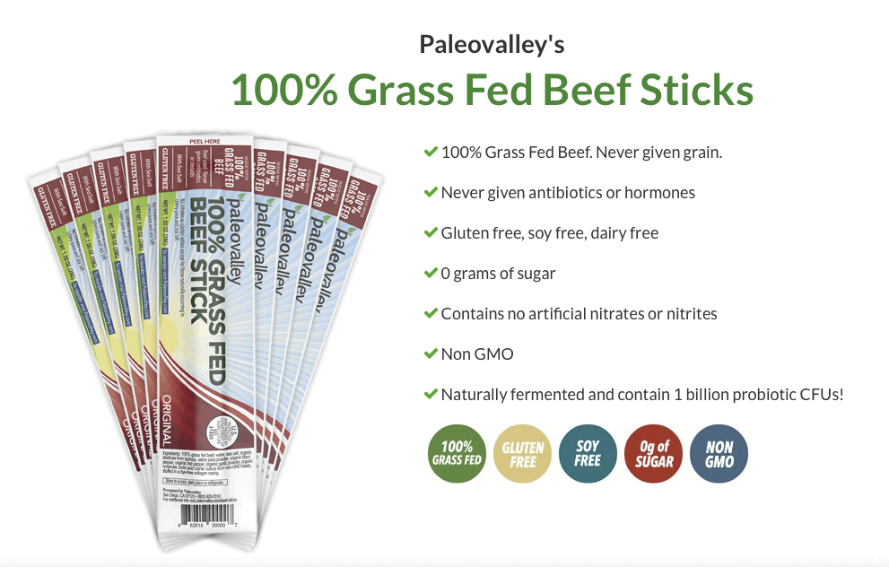 Paleovalley Grass-Fed Beef Sticks