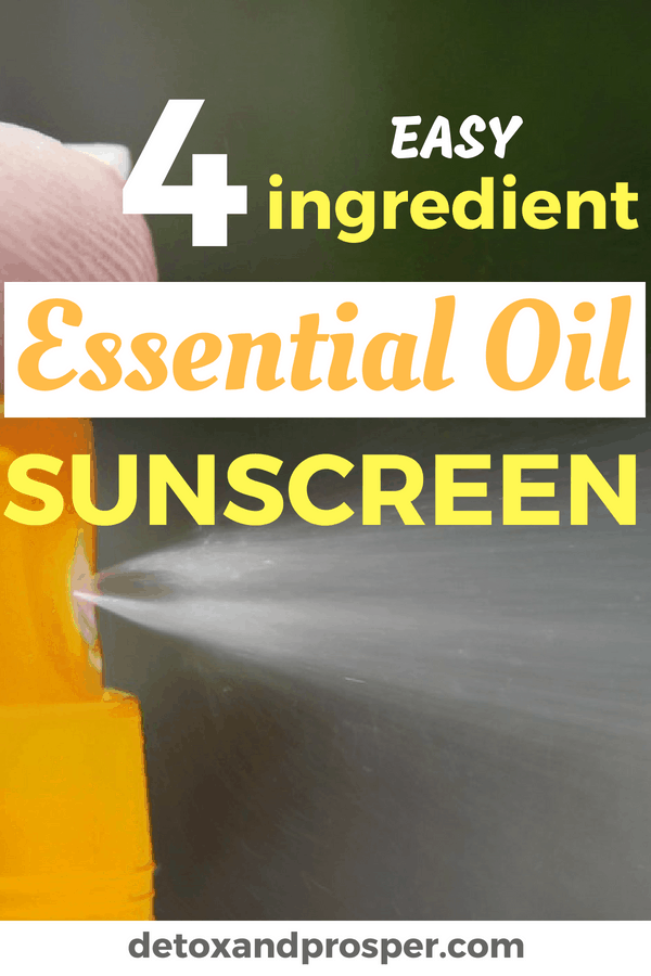 Hate getting sunburned but also don't want to slather yourself in the chemicals found in most sunscreen? Me either! That's why I put together this super easy essential oil sunscreen made with just 4 ingredients. Check it out & finally enjoy the outdoors worry free!