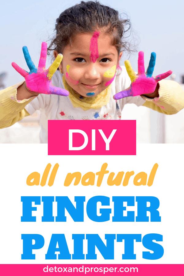 DIY Non Toxic Finger Paints for Babies