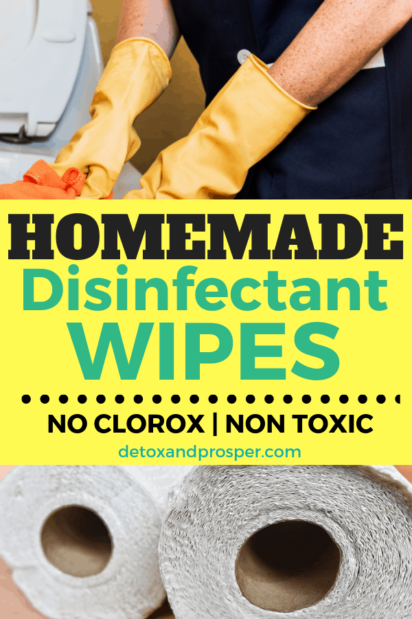 homemade disinfectant wipes made with paper towels