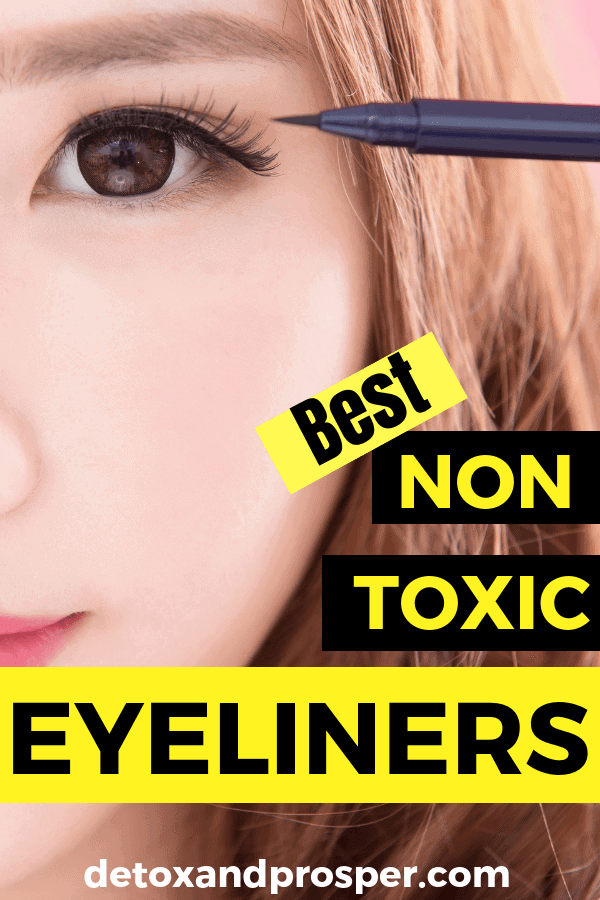 girl wearing natural eyeliner that is toxin free